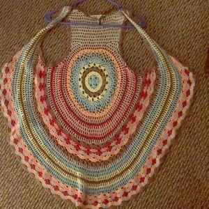 Boho Coachella crochet vest